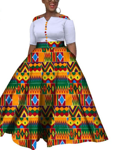 African Colorful Wedding Ankle-Length Dress