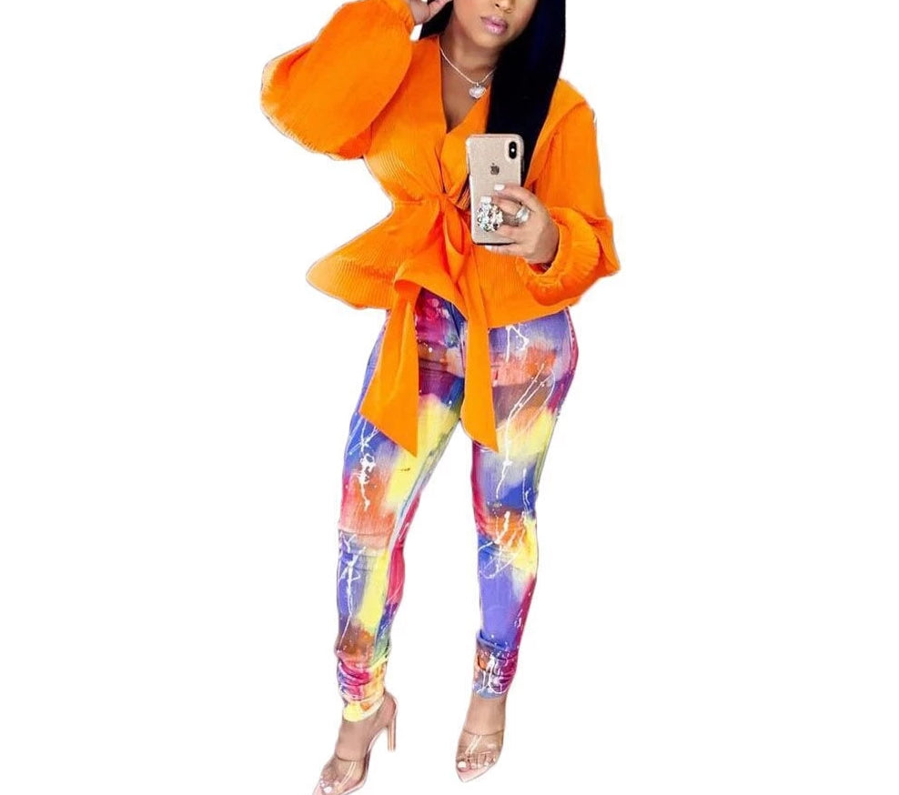 Galaxy Print Skinny Pencil Leggings Long Casual  Pants