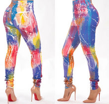 Load image into Gallery viewer, Galaxy Print Skinny Pencil Leggings Long Casual  Pants
