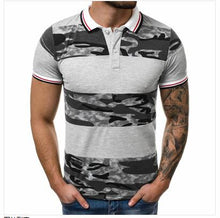 Load image into Gallery viewer, Men Polo Shirt Lapel Collar Slim Fit Shirt