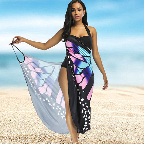 Butterfly Wing Cape Bikini Swimwear Cover Up