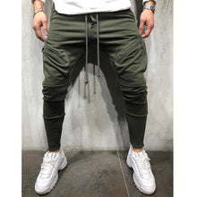 Load image into Gallery viewer, Multi-Pocket Men's Sports Skinny Pants