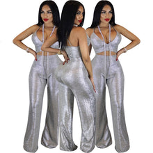 Load image into Gallery viewer, Sequined 2 Piece Pant Set - kats closet1