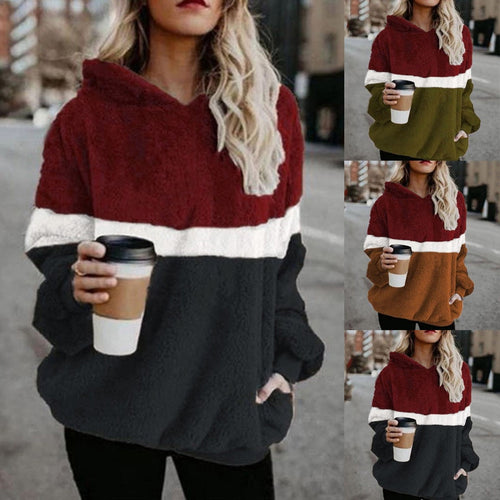 Long-sleeve Round Collar Hoodie Sweater