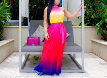 Load image into Gallery viewer, Tie Dye Print Sleeveless Maxi Long Dress