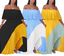 Load image into Gallery viewer, Off The Shoulder Chiffon Long Maxi Dress