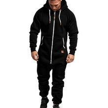 Load image into Gallery viewer, Men One Piece Overalls Winter Fleece Zipper Jumpsuit