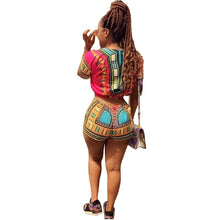 Load image into Gallery viewer, African Print Two Piece Shorts Playuit - kats closet1