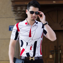 Load image into Gallery viewer, Summer Men Shirt Fashion 2018 Slim Fit Short Sleeve Stretch Shirt Male Plus size M-6XL Men Clothing Casual Mens Social Shirts - kats closet1