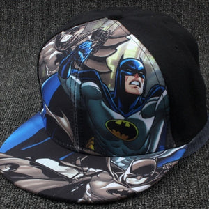 High Quality Children's Hip-hop Elegant Art Wonderful Baseball Cap Superman Batman Cartoon Baseball Caps 2016 Hats for Children - kats closet1