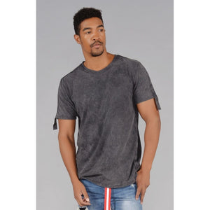 TAB Acid Wash Short Sleeve T- Shirt (Hi-VizOrange) - kats closet1