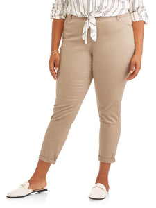 Plus Size Rolled Ankle Color Skinny Jeans - kats closet1