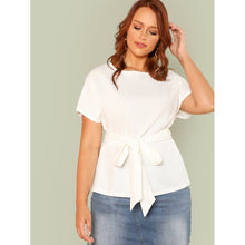 Load image into Gallery viewer, Tie Waist Solid Top - kats closet1