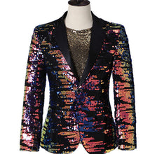 Load image into Gallery viewer, Multi-Color Sequins Blazer Suit Jacket
