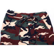 Load image into Gallery viewer, Two Piece Camouflage Yoga Long Sleeve + Pants Running Set