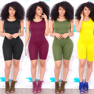 Sleeveless Bodycon 5Colors Jumpsuit - kats closet1