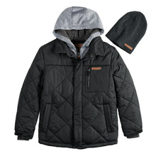 Load image into Gallery viewer, Boys 8-20 Quilted Jacket & Hat - kats closet1