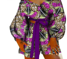 Load image into Gallery viewer, African Bow-Tie Top And Short Pants Sets - kats closet1