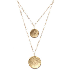 Double Strand Coin Necklace - kats closet1