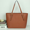 Classic Style PU Leather Shoulder Tote Handbag