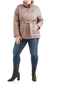 Women???s Plus-Size Belted Puffer Jacket CoatWomen???s Plus-Size Belted Puffer Jacket Coat - kats closet1
