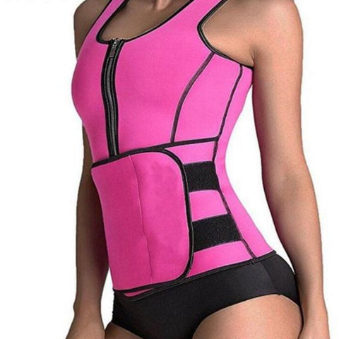 Sauna Vest Body Shaper Slimming Waist Trainer Adjustable Sweat Belt Corset