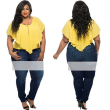 Load image into Gallery viewer, 3 Colors Plus Size Sexy Chiffon Sleeveless Casual Loose Blouse - kats closet1