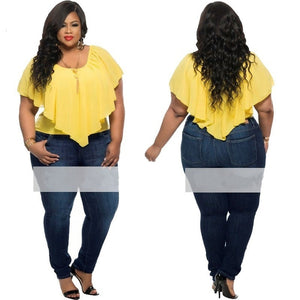 3 Colors Plus Size Sexy Chiffon Sleeveless Casual Loose Blouse - kats closet1