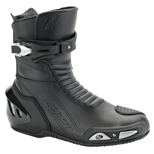 Joe Rocket Super Street RX14 Mens Black Leather Motorcycle Boots - kats closet1