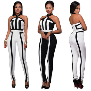 Backless One Piece Jumpsuit
