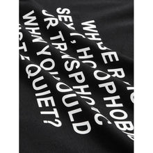 Load image into Gallery viewer, Slogan Print Tee - kats closet1