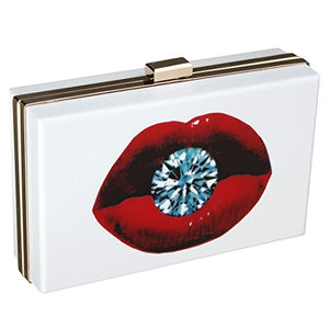 EROUGE Acrylic Clutch Purse Red Mouth Desiger Bags Women Handbags Evening Clutches