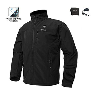 Cordless Heated Jacket Carbon Fiber Electric Heating Jacket Thermal Clothing with 1PCS 5200mah Battery - kats closet1