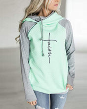 Load image into Gallery viewer, Faith Print Hoodies Long Sleeve Casual Tops