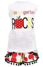 Load image into Gallery viewer, Girls Kindergarten Rocks School Outfit