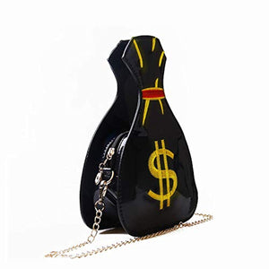 Money Print Cross Body Shoulder Handbag
