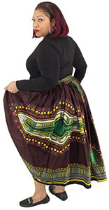 African Planet Women's Dashiki elastic waist balloon skirt - kats closet1