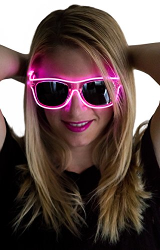 Neon Nightlife Slightly Tinted Wayfarer Light Up Glasses