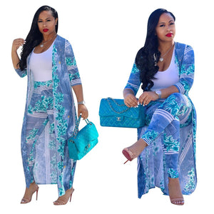 Two-Piece Casual Floral Print Suit - kats closet1