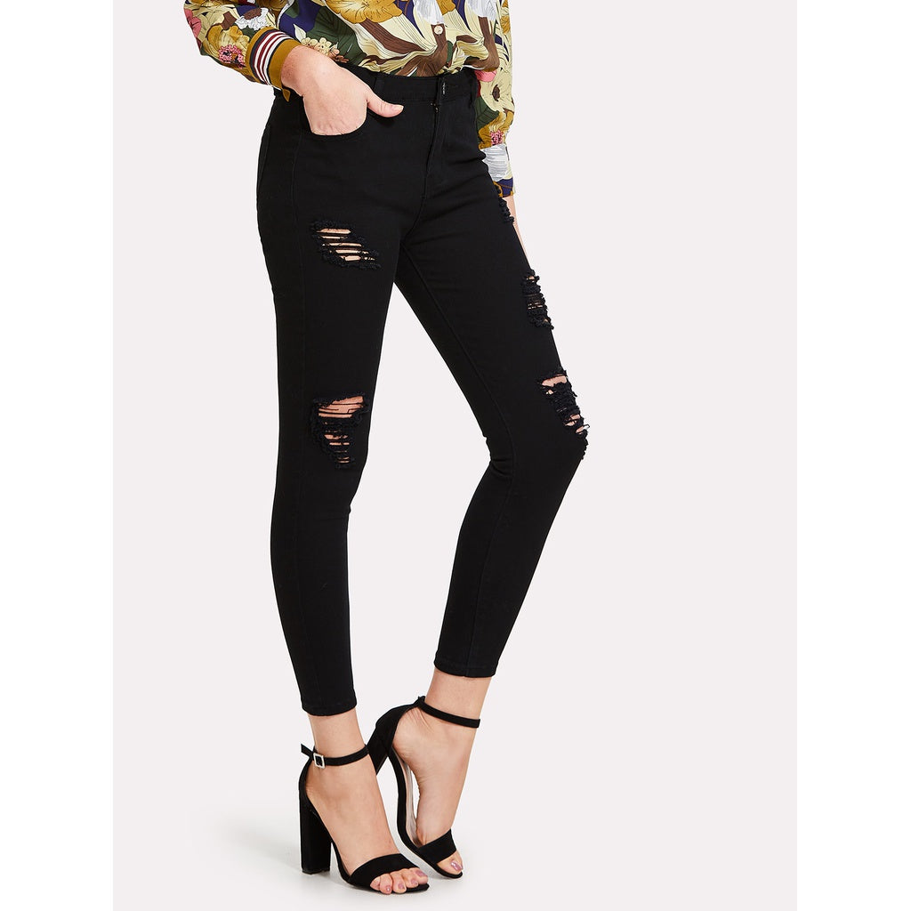Ripped Skinny Jeans - kats closet1
