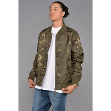 Load image into Gallery viewer, Tonal Fatigue Bomber Jacket (Olive) - kats closet1
