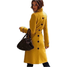 Load image into Gallery viewer, Winter Women Elegant Wool White Trench Coat - kats closet1