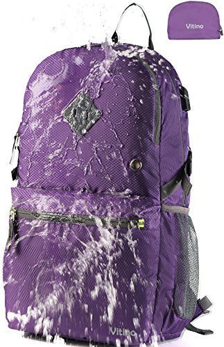 Vitino Backpack with USB Charging Port Water Resistant Lightweight Packable Backpacks for Travel Hiking - kats closet1