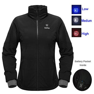 Cordless 7.4v Women's Heated Jacket Winter Outdoor Coat With Battery and Charger (M, 1pcs 4400mAh Battery) - kats closet1