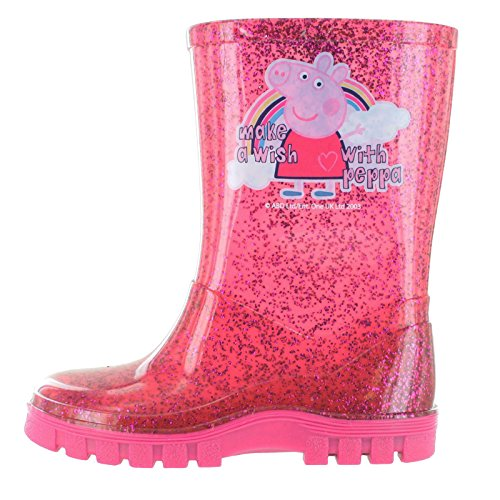 Peppa Pig Glitter Pink Make A Wish Boots - kats closet1