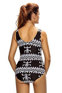 Lace Up V Neck One Piece Swimsuit - kats closet1