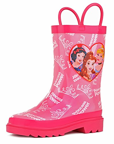 Disney Kids Girls' Princess Character Printed Waterproof Easy-On Rubber Rain Boots - kats closet1