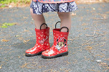 Load image into Gallery viewer, Disney Girls Minnie Mouse Character Printed Waterproof Easy-On Rubber Rain Boots - kats closet1