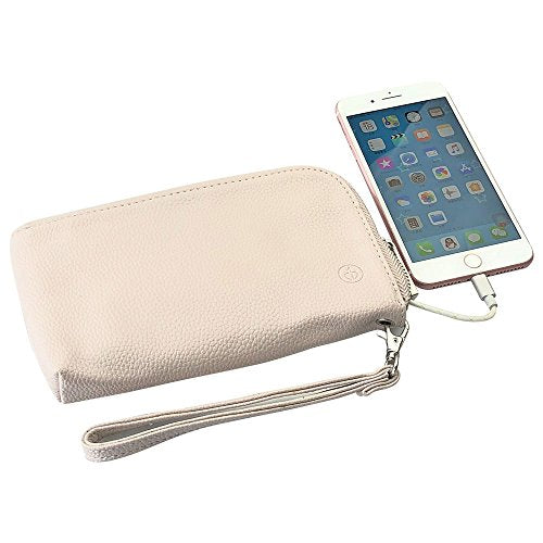 Wristlet Built-in Power Bank Wallet for Cellphone,Charging Cable for Travel - kats closet1