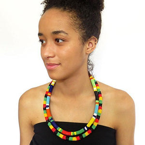 African Zulu beaded necklace and round bracelet set - Multicolour ONE - Gift for her - kats closet1